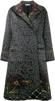J.W.Anderson floral and squiggle embroidered coat - women - Silk/Polyester/Acetate - 8