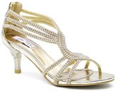 SheSole Womens Metallic Kitten Heels Sandals Wedding Shoes