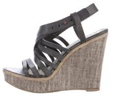 Henry Beguelin Leather Platform Wedge Sandals