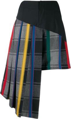Ji Oh Stripe Pleated Shorts