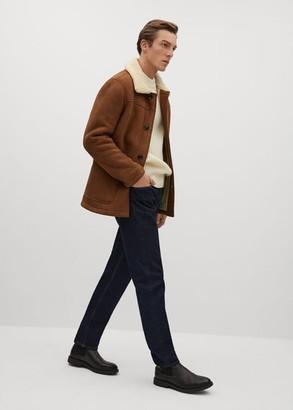MANGO Faux shearling-lined jacket