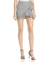 Alpha and Omega Gingham Ruffle Skort