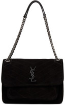 Saint Laurent Black Suede Medium Niki Bag