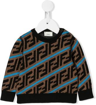 Fendi Kids FF intarsia jumper