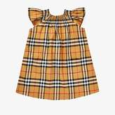Burberry Vinya Dress (Infant/Toddler) (Antique Yellow IP Check) Girl's Clothing