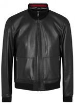 Gucci Black Leather Bomber Jacket
