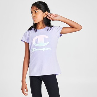 Champion Girls' Ombre C Script Logo T-Shirt
