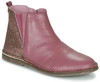 Citrouille et Compagnie LAVIVO girls's Mid Boots in Pink