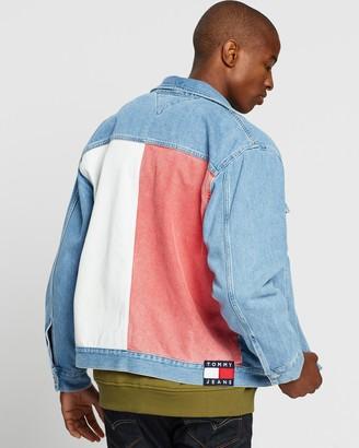 Tommy Jeans Oversize Tommy Flag Trucker Jacket