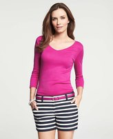 Ann Taylor Perfect V-Neck Tee