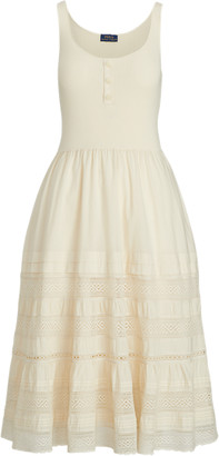 Ralph Lauren Cotton Sleeveless Henley Dress