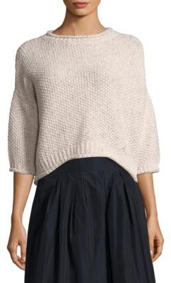Peserico Popcorn Knit Slouch Sweater