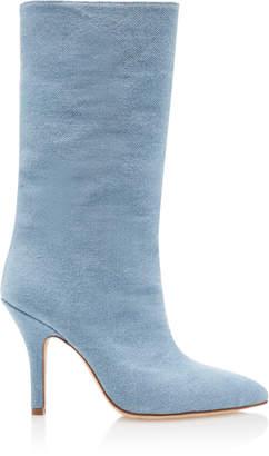 Paris Texas Denim Mid-Height Boots
