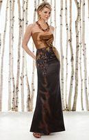 Mon Cheri Cameron Blake by Mon Cheri - 211610 Long Dress In Gold Brown
