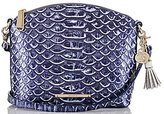 Brahmin Delray Collection Mini Duxbury Tasseled Snake-Embossed Cross-Body Bag