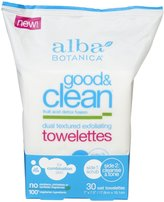 Alba Good & Clean Dual Textured Exfoliating Towelettes