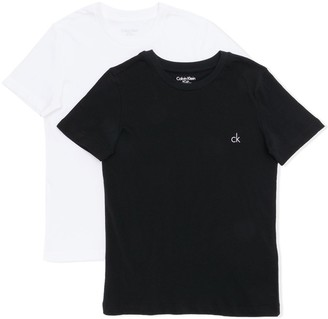 Calvin Klein Kids logo printed T-shirt set