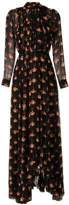 Eva Papilio printed long dress