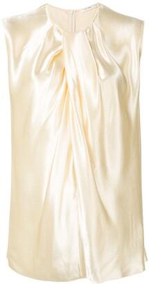 The Row Shira hammered-satin blouse