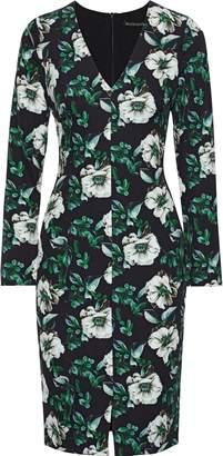 Black Halo Sambora Floral-print Cady Dress