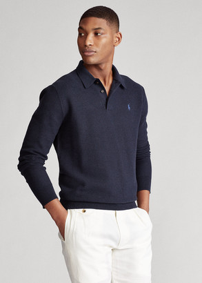 Ralph Lauren Cotton Polo-Collar Sweater
