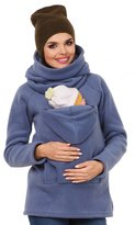 Zeta Ville Fashion Zeta Ville - Womens Maternity Sweatshirt Babywearing Carrier Back Front - 030c (