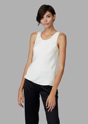 Giorgio Armani Sleeveless Top In Pure Silk