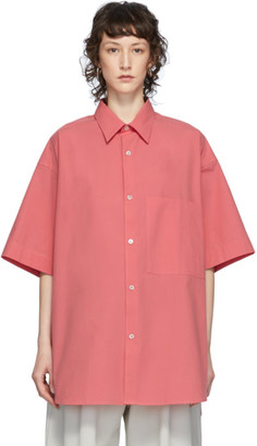 Studio Nicholson Pink Oversized Sorono Shirt