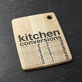Crate & Barrel Kitchen Conversion Cutting Board