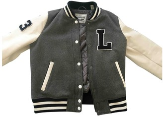 Levi's Grey Leather Jacket for Women