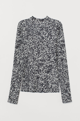 H&M Mock-turtleneck Top - White
