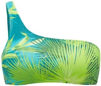 Versace Jungle-print One-shoulder Bikini Top - Green Print