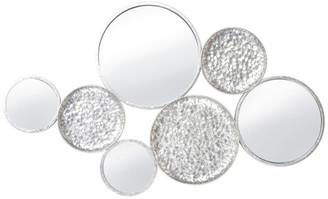 "Sagebrook Home Metal 39"" Mirrored Wall Decor, Silver"