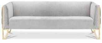 Orren Ellis Cotten Tufted Chesterfield Sofa Leg Color: Gold
