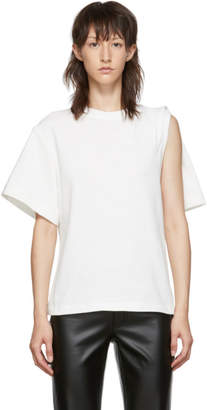 Alexander Wang White Draped T-Shirt