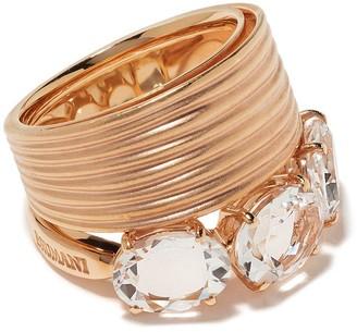 Brumani 18kt rose gold Looping Shine quartz ring