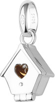 Links of London Sterling silver and 18ct yellow gold hinged birdhouse charm