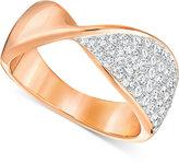 Swarovski Rose Gold-Tone Twisted Pavé Statement Ring