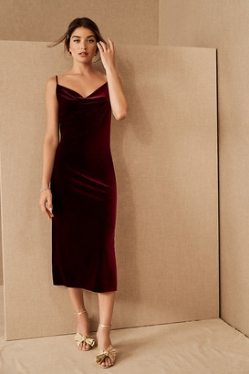 Jenny Yoo Bentley Velvet Dress By in Purple Size 6