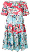 Blugirl holiday print tier dress