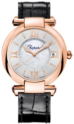 Chopard Rose Gold and Amethysts Imperiale Automatic Watch 36mm