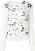Olympia Le-Tan printed panel sweatshirt