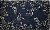 "Laura Ashley Winchester Plush Knit Microfiber 24"" x 36"" Accent Rug, Navy"