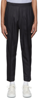 Martin Asbjorn Black Silk David Cropped Trousers