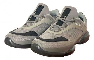 Prada Cloudbust Grey Cloth Trainers