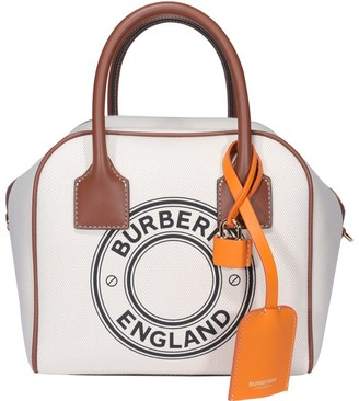 Burberry Cube Graphic Logo Small Tote Bag