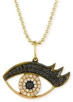 Sydney Evan 14K Gold Eyelash Eye Pendant Necklace with Diamonds