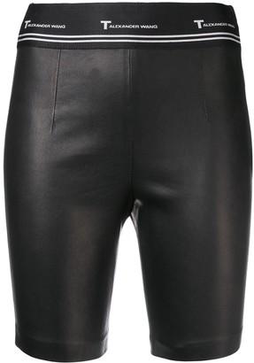 Alexander Wang Stretch Leather Biker Shorts