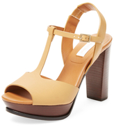 See by Chloe Leather T-Strap Sandal