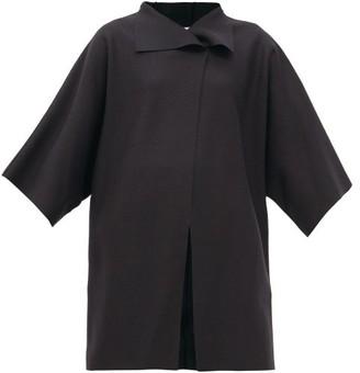 Harris Wharf London Pressed-wool Wrap Coat - Black